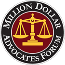 Logo Recognizing Browning Law Firm, P.A.'s affiliation with Million Dollar Advocates Forum